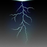 Motif de foudre dans le ciel noir vecteur
