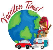 Un logo de temps de vacances