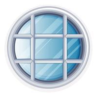 Fenêtre ronde avec cadre blanc
