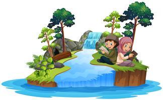 Livre d'enfants dans la nature