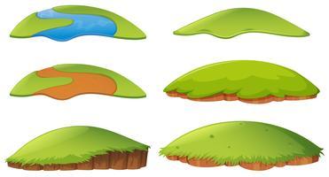 Différentes formes d'île vecteur