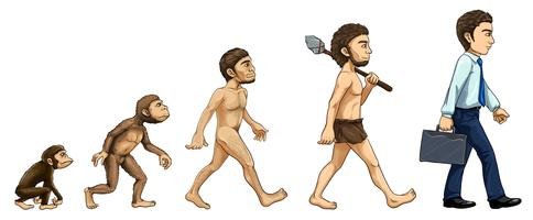 Évolution de l'homme vecteur