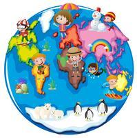 Enfants dans différentes parties du monde vecteur