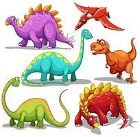 Différents types de dinosaures vecteur
