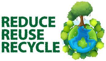 Recycler vecteur