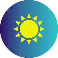 icône du soleil vecteur