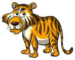 Tigre sauvage avec des yeux endormis