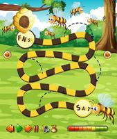 Modèle de jeu de plateau d'abeille vecteur
