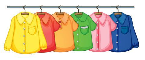 Vêtements suspendus vecteur