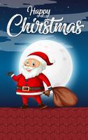 Santa sur le toit