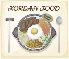 nourriture coréenne vecteur