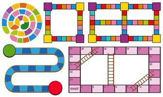 Modèles de jeu en différentes couleurs vecteur