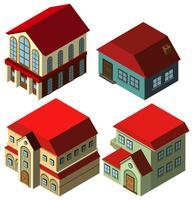Conception 3D pour différents styles de maisons