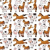 Vache sans couture et cheval