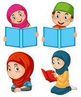 Un ensemble de musulmans vecteur