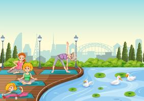 Formation de yoga au parc