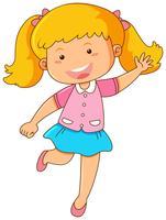 Petite fille avec un sourire heureux vecteur