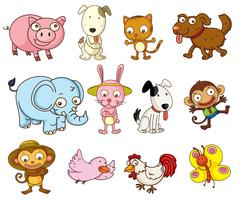 animaux de dessin animé vecteur