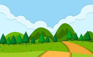 Une scène de route nature vecteur