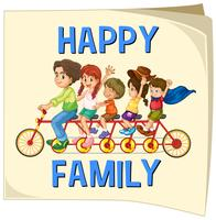 Membres de la famille à vélo