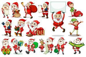 Actions du Père Noël vecteur