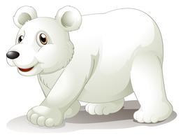 Un gros ours blanc vecteur