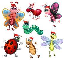 Créatures segmentées vecteur