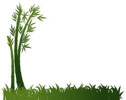 Design de fond avec des plantes de bambou vecteur