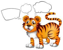 Un tigre sauvage avec légendes vides