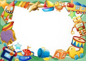 Frame design avec des jouets en bois