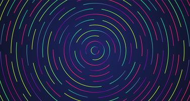 Néon coloré, lignes pointillées, illustration vectorielle vecteur