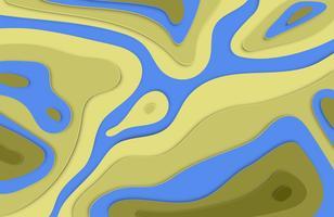 Papier découpé en relief 3D fond coloré avec des ombres pour la publicité, illustration vectorielle vecteur