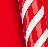 Haute canne en bonbon rouge détaillée, illustration vectorielle vecteur