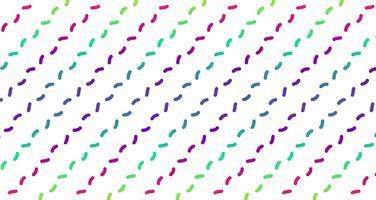 Néon coloré, lignes pointillées, illustration vectorielle