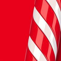 Haute canne en bonbon rouge détaillée, illustration vectorielle