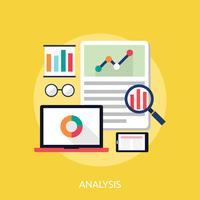 Analyse Illustration conceptuelle Conception vecteur