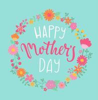 Bonne carte de fête des mères. vecteur