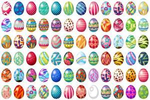 œufs de Pâques vecteur