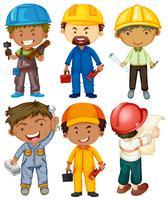 Les gens qui font différents types de travail vecteur