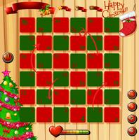 Jeu de thème de Noël avec le rouge et le vert