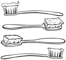 Brosses à dents vecteur