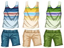 Design de mode pour tanktop et shorts vecteur