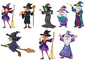 Un groupe de sorcières vecteur