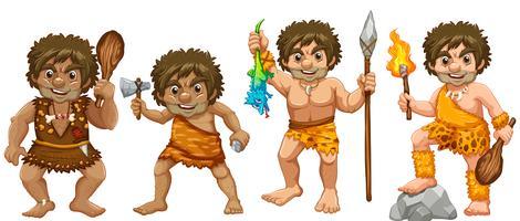 hommes des cavernes vecteur