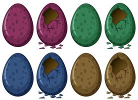Œufs en quatre couleurs