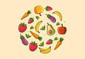 Fond de nourriture saine vecteur