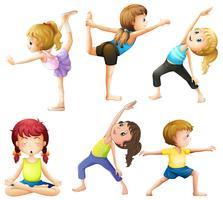 yoga vecteur