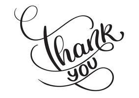 Merci les mots sur fond blanc. Lettrage de calligraphie dessiné à la main illustration vectorielle EPS10 vecteur