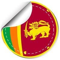 Création d'autocollant pour le drapeau du Sri Lanka vecteur