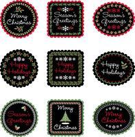 étiquettes de cadeaux de noël vecteur